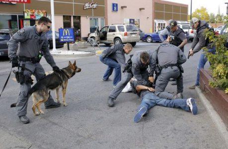 Poliziotti arrestano sospettato