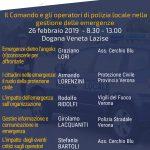 Convegno – Lazise (VR) 26 febbraio 2019 – Il Comando e gli operatori di Polizia Locale nella gestione delle emergenze