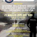 BOLOGNA- Workshop: Gestione dell'evento critico di servizio e rientro a casa dell'operatore di polizia