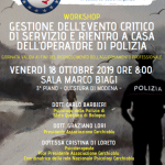 Gestione evento critico e rientro del poliziotto: SEMINARIO