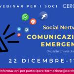 CORSO WEBINAR SOCIAL NETWORK E COMUNICAZIONE IN EMERGENZA