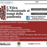 L'etica professionale ai tempi della pandemia: webinar
